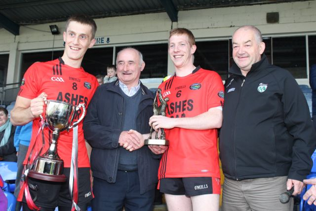Pa Kilkenny receives his man of the match award. Photo by Dermot Crean