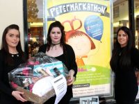 Joanne Riordan, Lorraine O'Gorman and Manager of Peter Mark Tralee, Michelle O'Shea, looking forward to the Petermarkathon in aid of Women's Aid from October 27-29. Photo by Dermot Crean