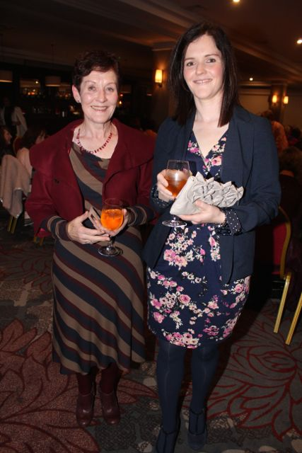 Anne Coffey and Emer Fleming at the 'Look Good, Feel Good' charity fashion event at The Ashe Hotel on Wednesday night. Photo by Dermot Crean