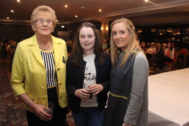 Eileen Brennan, Hazel Brennan and Helena Parker, Kilflynn, at the 'Look Good, Feel Good' charity fashion event at The Ashe Hotel on Wednesday night. Photo by Dermot Crean