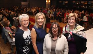 The organisers of the 'Look Good, Feel Good' charity fashion event, Eileen Comerford, Recovery Haven; Sandra Rusk, Weardrobe; Niamh Hanley, Effigy and Maureen O'Brien, Recovery Haven, at The Ashe Hotel on Wednesday night. Photo by Dermot Crean