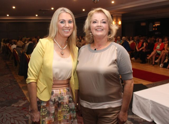 Elaine Hennebery and Noreen Landers at the 'Look Good, Feel Good' charity fashion event at The Ashe Hotel on Wednesday night. Photo by Dermot Crean