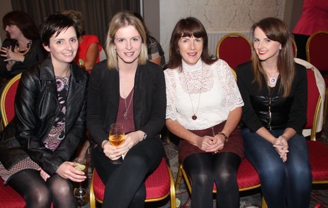 Elaine Barry, Jennifer Barry, Violet Culloty and Ciara Culloty at the 'Look Good, Feel Good' charity fashion event at The Ashe Hotel on Wednesday night. Photo by Dermot Crean