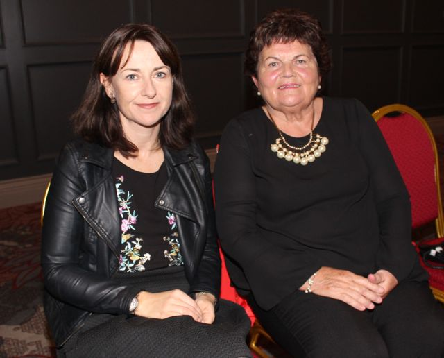 Michelle Kelliher and Eleanor Kelliher at the 'Look Good, Feel Good' charity fashion event at The Ashe Hotel on Wednesday night. Photo by Dermot Crean