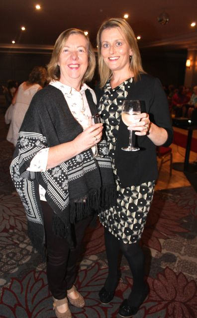 Catherine Needham and Claire Molloy at the 'Look Good, Feel Good' charity fashion event at The Ashe Hotel on Wednesday night. Photo by Dermot Crean