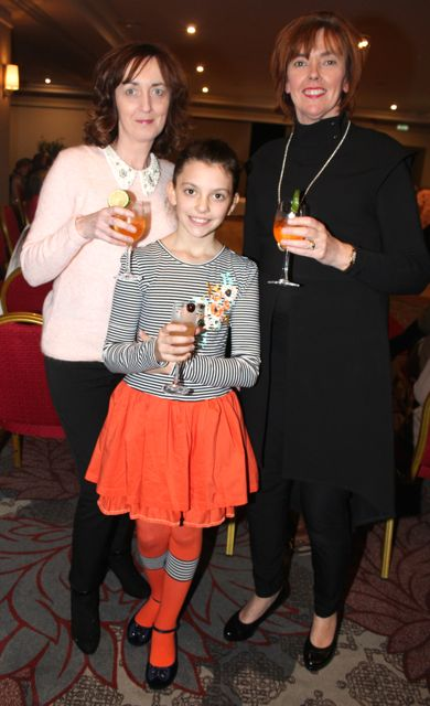Breda Barry with Sarah Jane and Bernice Hoffman at the 'Look Good, Feel Good' charity fashion event at The Ashe Hotel on Wednesday night. Photo by Dermot Crean