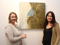 Deirdre Enright of the Craft Makers Centre with artist Roisin McGuigan whose exhibition of new work, 'Unearthing Place' opened at the Ashe Street centre on Thursday evening. Photo by Dermot Crean