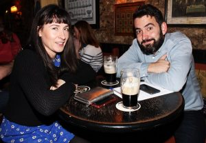 Ann Ni Chiobhain and Dermot O'Hanlon at the Special Olympics table quiz. Photo by Gavin O'Connor.