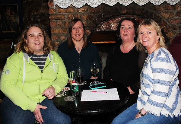 Deirdre lyons, Dawn Mitchell, Mary Kinsella and Eilish Teehan at the Special Olympics table quiz. Photo by Gavin O'Connor.