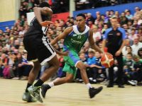 Action from the Irish TV Tralee Warriors Match against Swords Thunder in The Complex. Photo by Gavin O'Connor.
