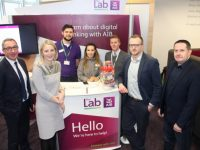 at the Lab On The Go presentation at AIB on Monday. Photo by Dermot Crean
