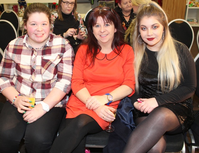 Tiana Ward, Ita Power and Aideen Griffin at the Adapt Fashion Show on Friday night. Photo by Dermot Crean