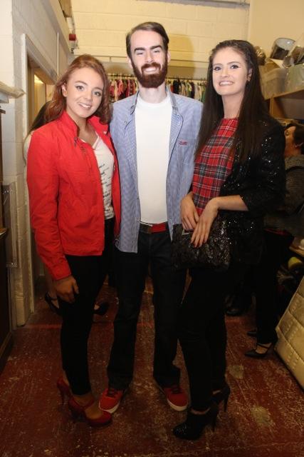 Cathy Hughes, Aki O'Rourke and Megan Hobbs at the Adapt Fashion Show on Friday night. Photo by Dermot Crean