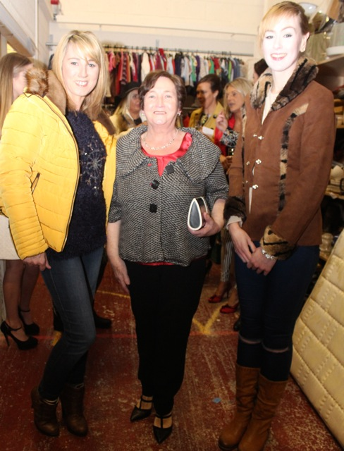 Aine Wall, Marian O'Halloran and Deirdre Ryan at the Adapt Fashion Show on Friday night. Photo by Dermot Crean