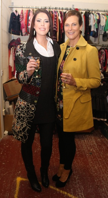 Sarah Louise Glavin and Brenda Ann Litchfield at the Adapt Fashion Show on Friday night. Photo by Dermot Crean