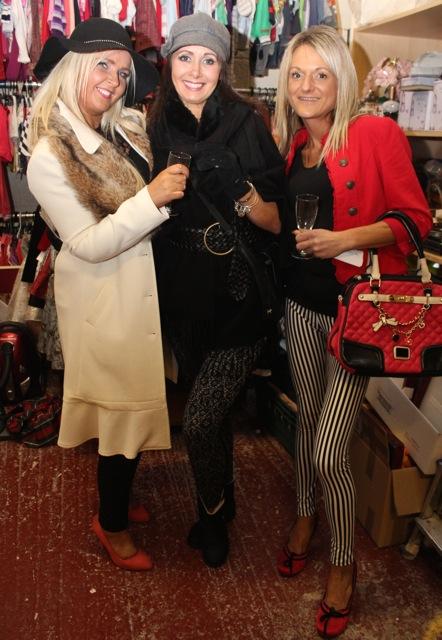 Sandra Breen, Deirdre Murphy and Magda Szmagealska at the Adapt Fashion Show on Friday night. Photo by Dermot Crean