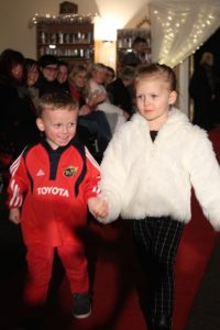 Little models at the Adapt Fashion Show on Friday night. Photo by Dermot Crean