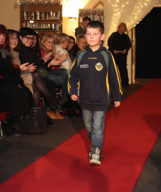 A young model at the Adapt Fashion Show on Friday night. Photo by Dermot Crean