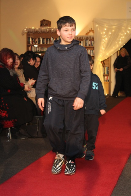 Young models at the Adapt Fashion Show on Friday night. Photo by Dermot Crean