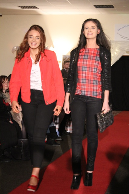 Models at the Adapt Fashion Show on Friday night. Photo by Dermot Crean