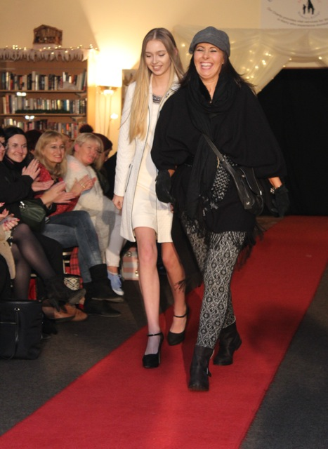 Vanessa Long and Deirdre Murphy modelling at the Adapt Fashion Show on Friday night. Photo by Dermot Crean