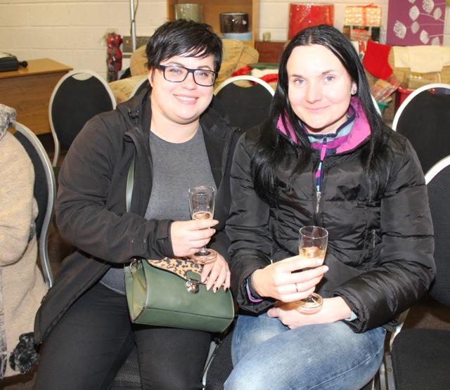 Kristine Sasko and Inta Logina at the Adapt Fashion Show on Friday night. Photo by Dermot Crean