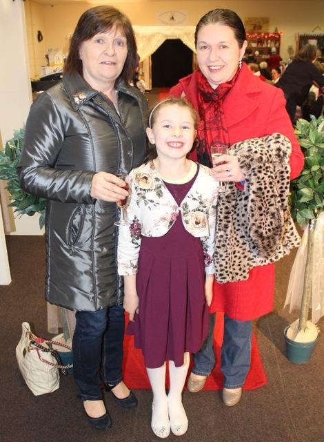 Sheila and Lena Dennehy with Ella Kelliher at the Adapt Fashion Show on Friday night. Photo by Dermot Crean