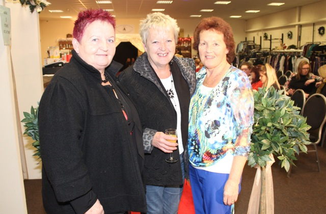 Helen Donovan, Kathleen Donovan and Christina Cregan at the Adapt Fashion Show on Friday night. Photo by Dermot Crean