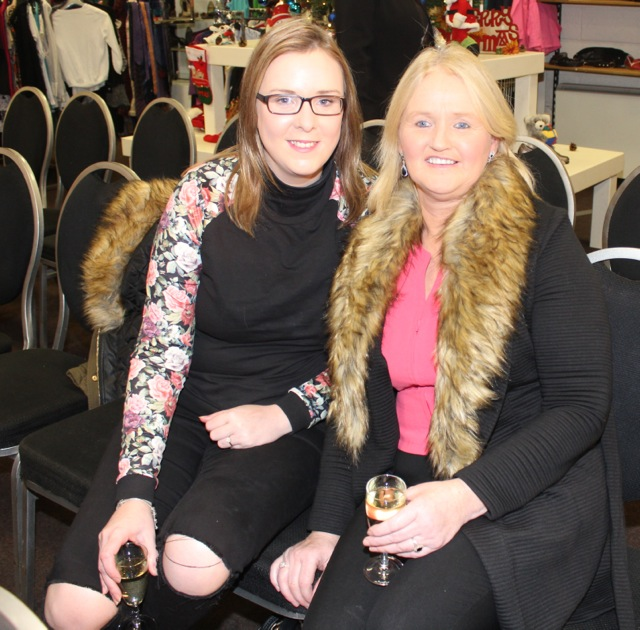 Laura Griffin and Louise Farrell at the Adapt Fashion Show on Friday night. Photo by Dermot Crean