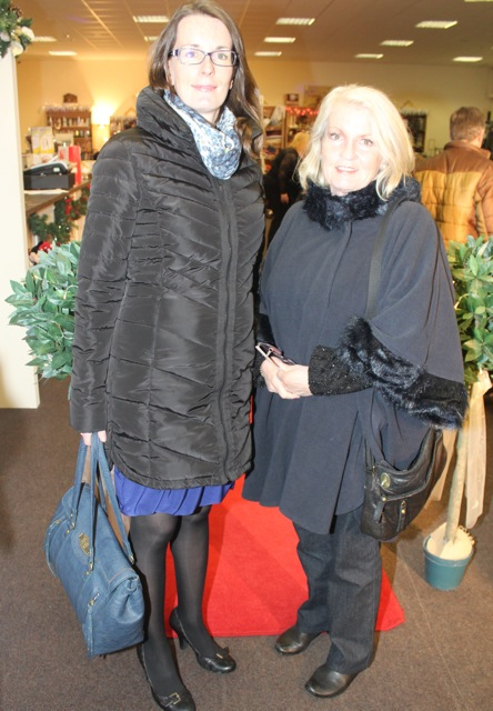 Emma and Geraldine O'Mahony at the Adapt Fashion Show on Friday night. Photo by Dermot Crean