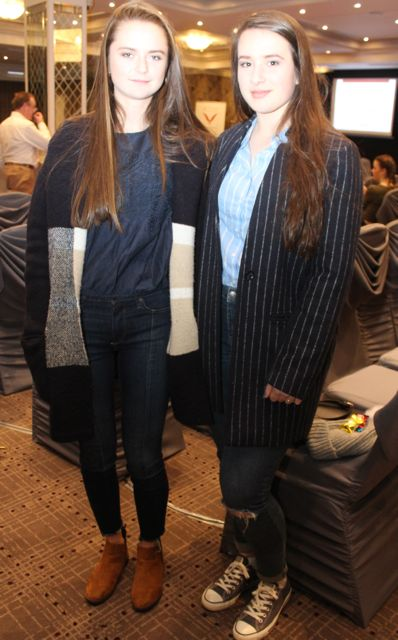 Ria Walsh and Laoise Coakley at the Aughacasla NS Fashion Show at the Rose Hotel on Friday night. Photo by Dermot Crean