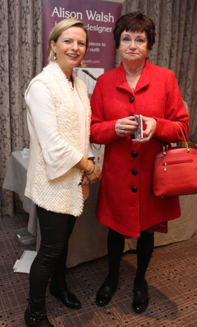Alison Walsh and Eileen O'Shea at the Aughacasla NS Fashion Show at the Rose Hotel on Friday night. Photo by Dermot Crean