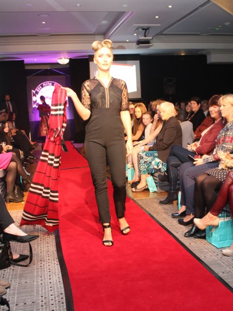 Modelling fashions from Jasmine Boutique at the Aughacasla NS Fashion Show at the Rose Hotel on Friday night. Photo by Dermot Crean