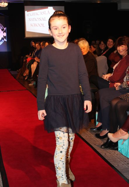 Modelling fashions from Mods And Minis at the Aughacasla NS Fashion Show at the Rose Hotel on Friday night. Photo by Dermot Crean
