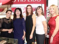 Danielle Mahon, Mary O'Donnell, Maeve Rogers, Anna Keogh and Catherine Vodden at the Shiseido Night at CH Chemists on Wednesday night. Photo by Dermot Crean