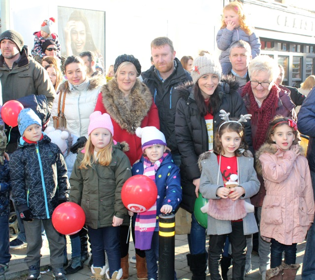 Crowds waiting patiently at the CH Chemists Christmas Parade on Saturday. Photo by Dermot Crean