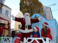 Santa at the CH Chemists Christmas Parade on Saturday. Photo by Dermot Crean