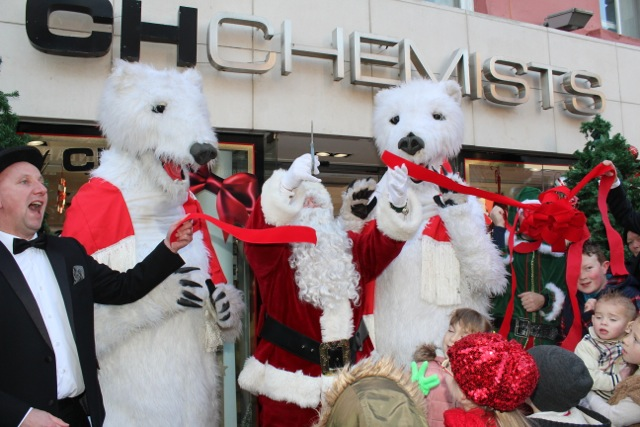 Opening Santaland at CH Chemists on Saturday. Photo by Dermot Crean