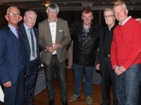 Sam Locke, Oliver Ross, Jimmy Ross, Francie Conway, Simon Ross and Kieran Ruttledge at the Troubadour night on Friday at the Rose Hotel. Photo by Dermot Crean
