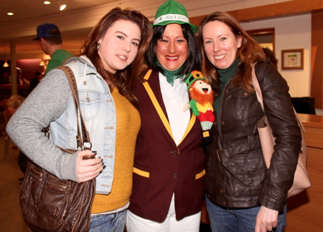 Leanne Lyons, Evangeline O'Neill and Cecelia Lyons at the Circus Siamsa Variety Show at Siamsa Tíre on Saturday afternoon. Photo by Dermot Crean