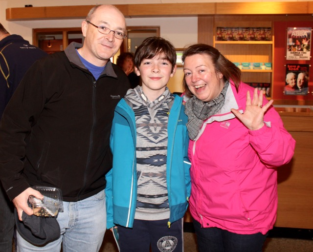 Denis, Brian and Irene McDonnell at the Circus Siamsa Variety Show at Siamsa Tíre on Saturday afternoon. Photo by Dermot Crean