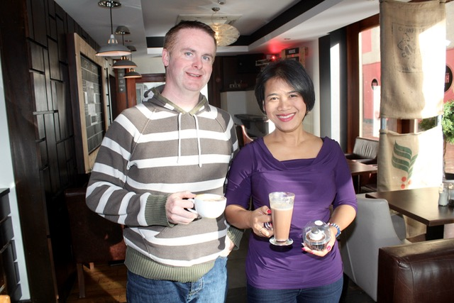 Mark and Linda Flanagan at the coffee morning in aid of Irish Premature Babies at House/The Abbey Inn on Thursday. Photo by Dermot Crean