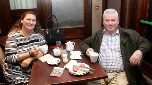 Catherine and Jim McCarthy at the coffee morning in aid of Irish Premature Babies at House/The Abbey Inn on Thursday. Photo by Dermot Crean