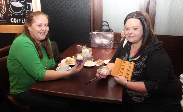 Diane O'Sullivan and Katie Leen at the coffee morning in aid of Irish Premature Babies at House/The Abbey Inn on Thursday. Photo by Dermot Crean