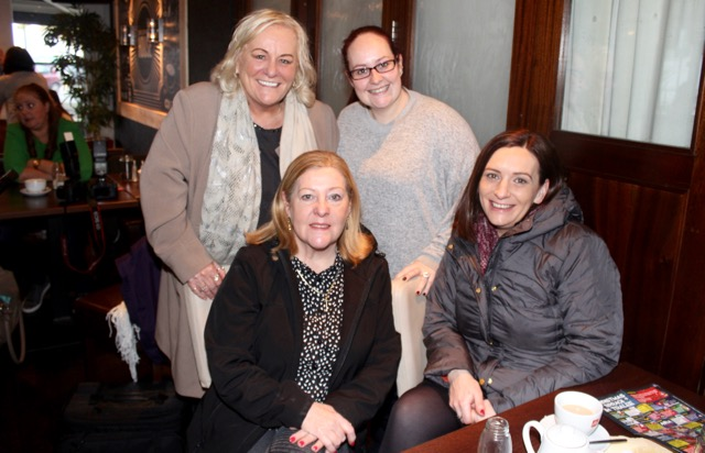 At back; Ciss Miller and Jenny McMahon. In front; Ann Fitzgerald and Brenda Kennedy at the coffee morning in aid of Irish Premature Babies at House/The Abbey Inn on Thursday. Photo by Dermot Crean