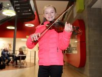Katie Ross, Tralee, at the Ceol an Geimhridh competition at IT Tralee on Saturday. Photo by Dermot Crean