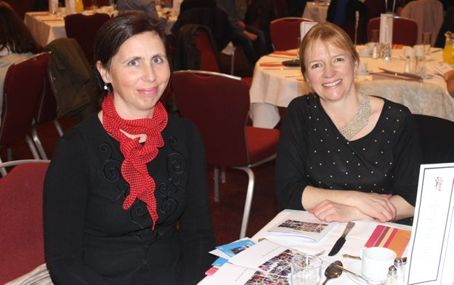 Clodagh Murphy and Colette O'Sullivan at the Tralee Harriers annual social and awards night at the Manor West Hotel on Friday night. Photo by Dermot Crean