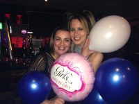 Grainne O'Sullivan and Jane Costello in Cassidy's Restaurant for the Kerins O'Rahillys Ladies Night Out on Saturday.