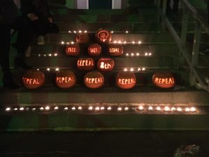 Kerry for Choice Repeal Pumpkins Candles