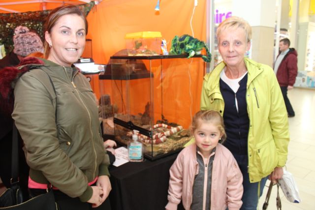 Trisha Moran, Lexi and Eileen Moran at the Manor West Family Fun Day on Saturday. Photo by Dermot Crean